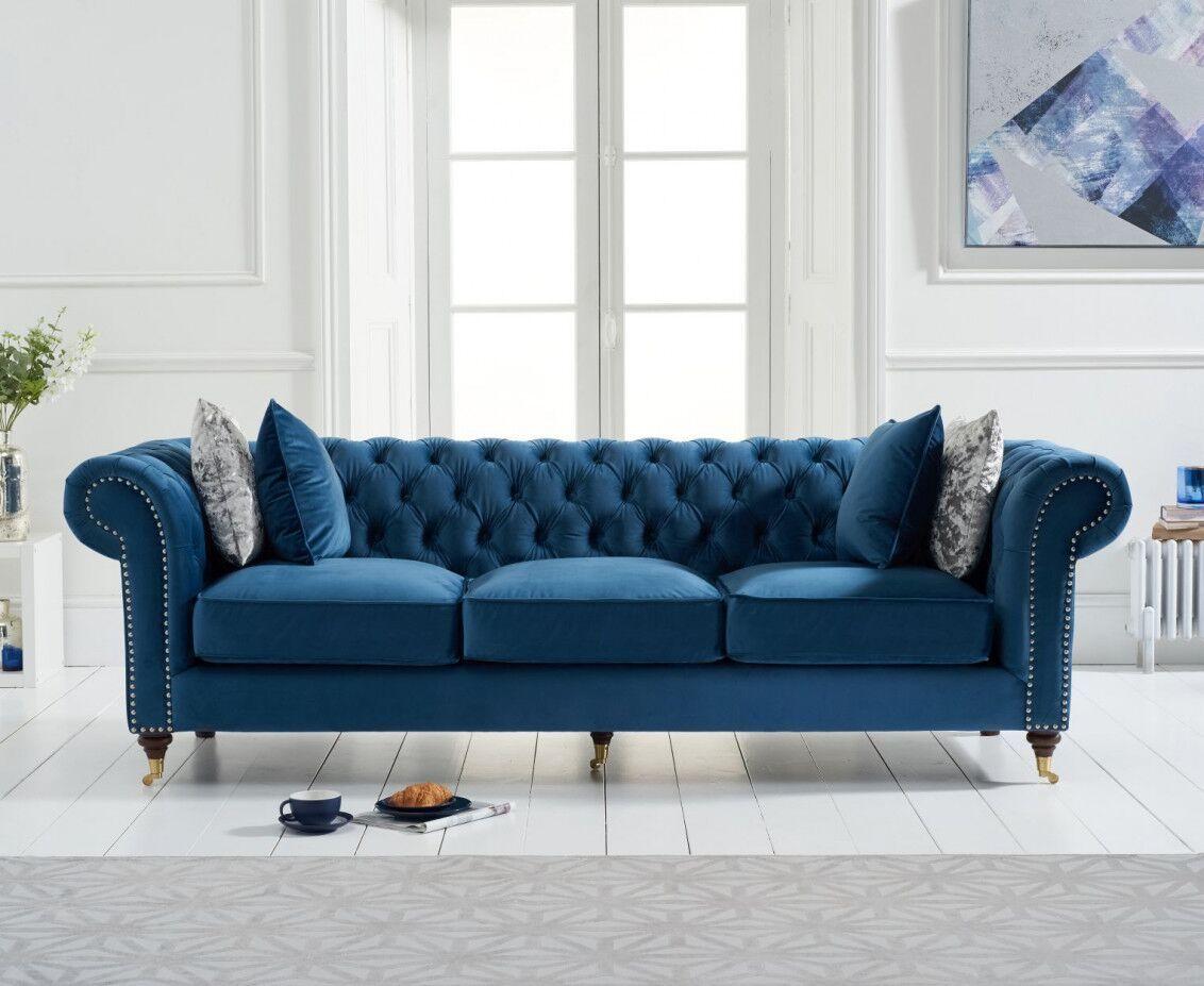 Blue_velvet_3_seater_sofa_with_cushion