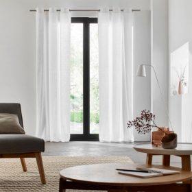 Plain White Linen Curtain