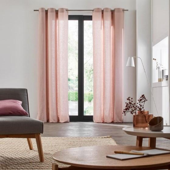 Light Pink Linen Curtain