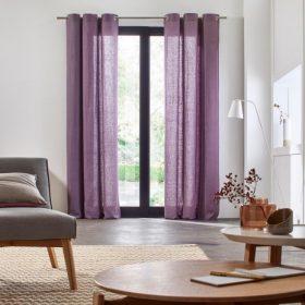 Light Purple Linen Curtain