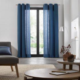 Light Blue Linen Curtain