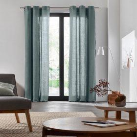Light Green Linen Curtain