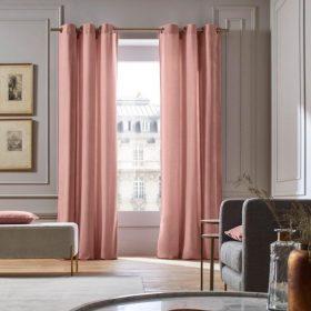 Pink Velvet Curtain