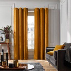 Mustard Velvet Curtain