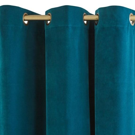 Bright Blue Velvet Curtain