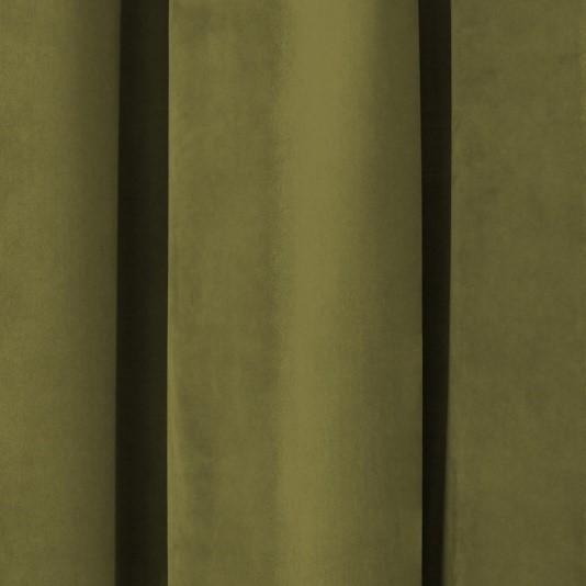 Olive Green Velvet Curtain