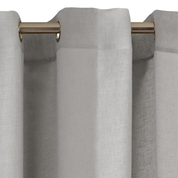 Grey Linen Sheer Curtain