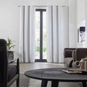 Plain White Blackout Curtain