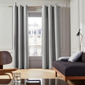 Grey Cotton Curtain