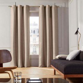 Beige Cotton Curtain
