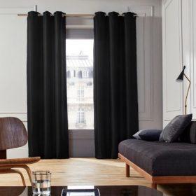 Black Cotton Curtain